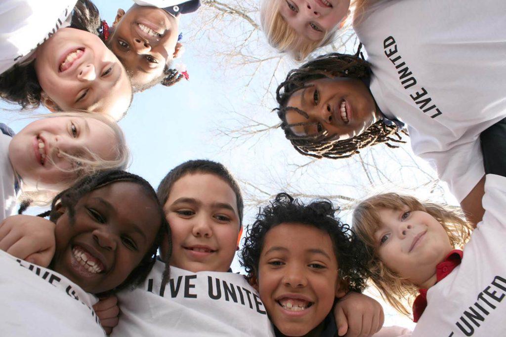 Kids in United Way tshirts